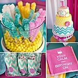 Birthday Parties: A Bold, Candy-Colored First Birthday Party