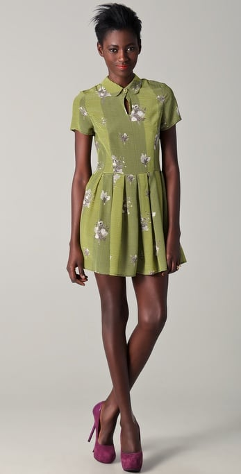 Opening Ceremony Short Sleeve Printed Floral Dress ($449)