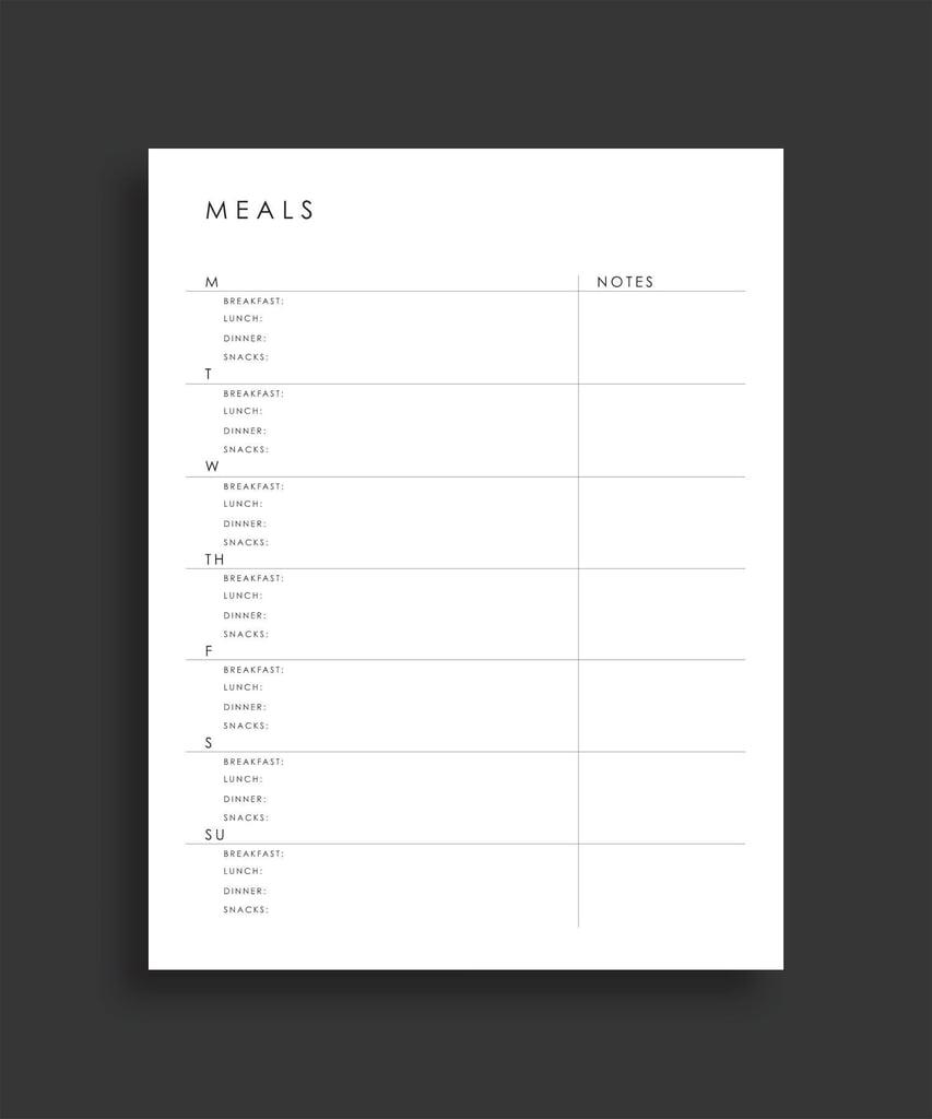 printable weekly meal planner 4 printable meal planning sheets
