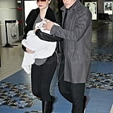 Orlando and Miranda Arrive in Paris With Baby Flynn in Time For Fashion Week