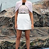 On day three, Blake Lively wore a Giambattista Valli dress with Lorraine Schwartz and Ofira jewels and a Roger Vivier clutch to the Shallows photocall.