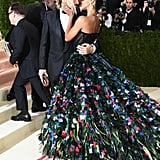 Zoe Saldana's Train Just Went Peacocking Across the Met Gala Red Carpet