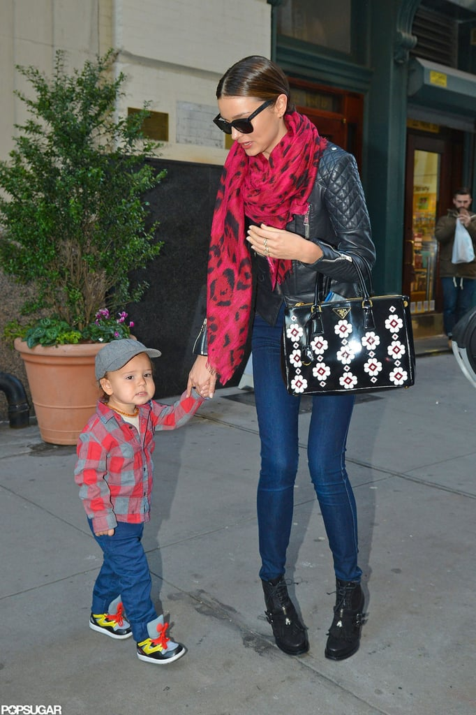 Miranda Kerr and Flynn Bloom spent the day together in NYC.
