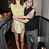 Alexa Chung hugged Cristian Siriano at his show on Saturday.