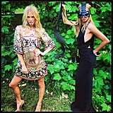 Poppy and Cara Delevingne showed off their sisterly modeling skills. Source: Instagram user poppydelevingne
