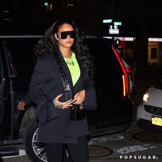 Rihanna's Black Boot Pants
