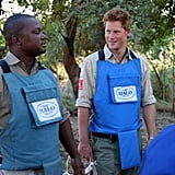 Prince Harry in Cahora Bassa, Mozambique in 2010