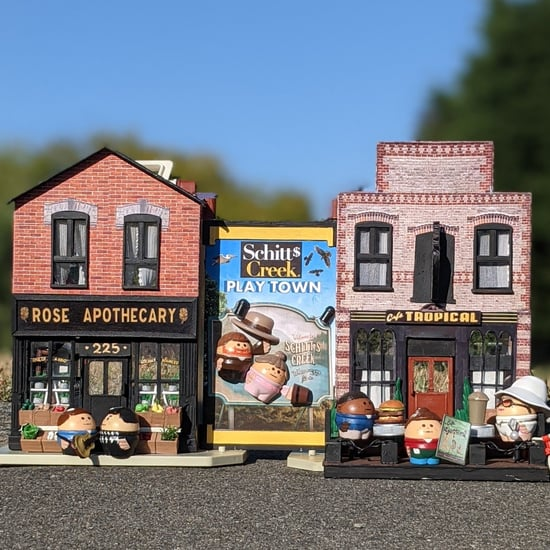Dad Transforms Old Toys Into Schitt's Creek Playtown For Son