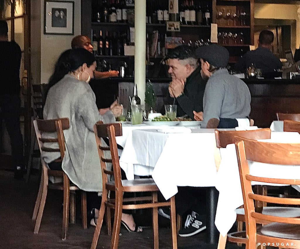 Demi Lovato and Charlie Hunnam were spotted having lunch together in LA on Wednesday. The two stars, along with Brazilian jiu jitsu champion Rigan Machado, sat for a meal and were photographed leaving the restaurant separately. An unlikely pairing? Perhaps. But back in April, Demi and Charlie appeared side by side on an episode of The Late Late Show With James Corden and discovered their mutual love of jiu jitsu — maybe they were discussing techniques? Demi did receive her blue belt in August. Or perhaps there's a chance that Charlie could pop up as a love interest in one of Demi's next videos? Whatever the nature of their conversation, we kind of love that these two are hanging out.      Related:                                                                                                           They're Friends?! 23 Celebrity Pals That Might Surprise You