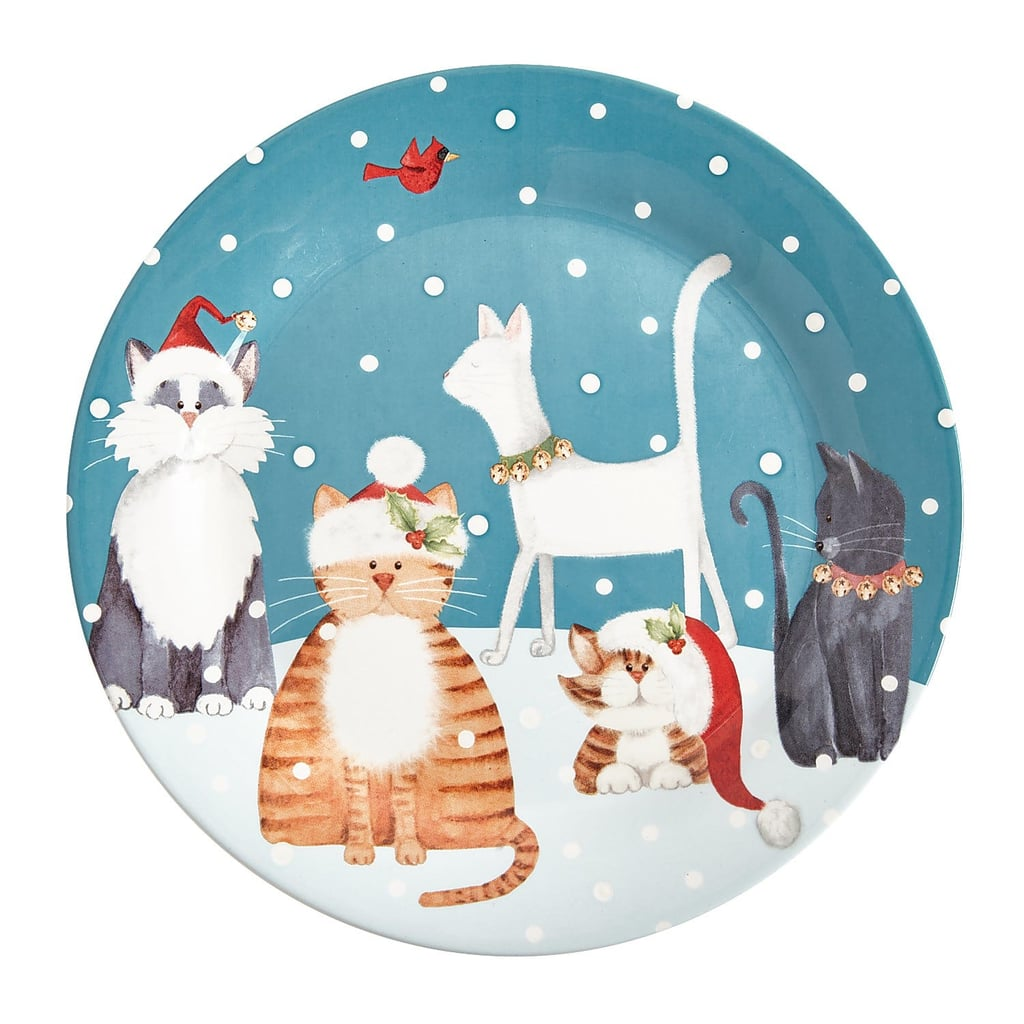 Holiday Cats Dinnerware Plate