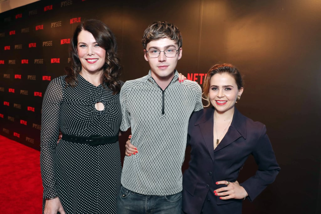 """Lauren Graham's onscreen kids have grown up so much. During Netflix's Gilmore Girls FYC event in Beverly Hills on Thursday, the  Parenthood actress (who played Sarah Braverman on the show) had a little reunion with her costars, Miles Heizer (Drew Holt) and Mae Whitman (Amber Holt). Aside from posing for a sweet family photo on the red carpet, Graham also joined her onscreen daughter on stage as they chatted about Gilmore Girls's recent revival and Whitman's surprise guest appearance. Of course, the ladies aren't the only ones to appear on a popular Netflix series. Heizer has gained a huge following for his role on the book-to-TV adaptation of 13 Reasons Why. Who else would love to see their series do a crossover?      Related:                                                                                                           We're Over the Term """"Friendship Goals,"""" but Miles Heizer and Mae Whitman Are Still It"""