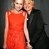 Ellen DeGeneres held Portia de Rossi's hand during the September 2005 Emmys.