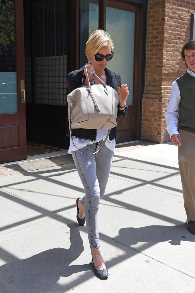 Charlize's off-duty style always feels polished ...