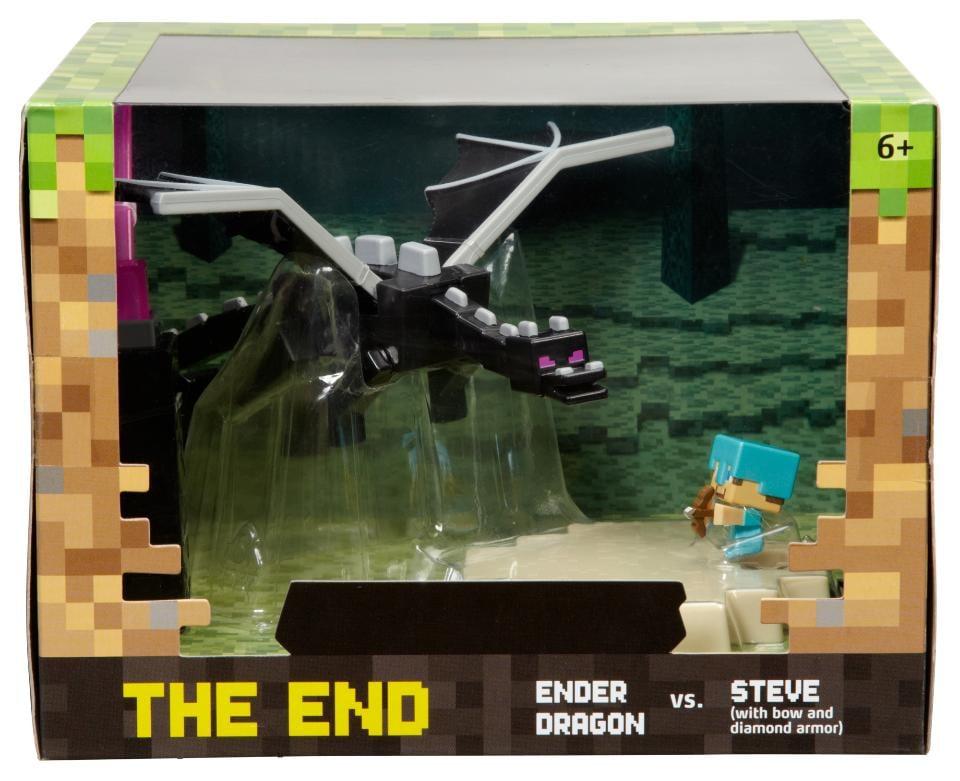 Minecraft The End Set Ender Dragon vs. Steve