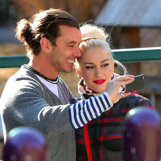 Gwen Stefani, Gavin, Kingston, and Zuma Christmas Pictures