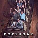 Prince Harry on Splash Mountain in Disney World