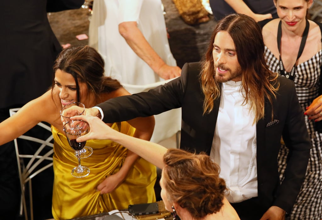 Jennifer Garner, Jared Leto and Camila Alves raised their glasses.