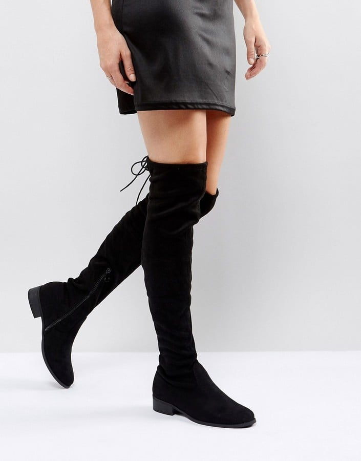 Public Desire Black Over-the-Knee Boots