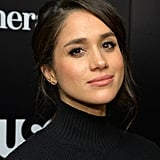 At an event in 2012, Meghan sported a loose chignon and black turtleneck that left her looking like a dead ringer for the bohemian gamine Audrey played in Funny Face. But her thick, uniform brows are what truly sealed the deal of the resemblance.