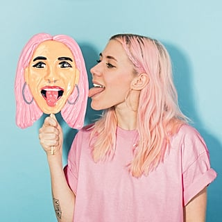Life-Size Face Lollipop