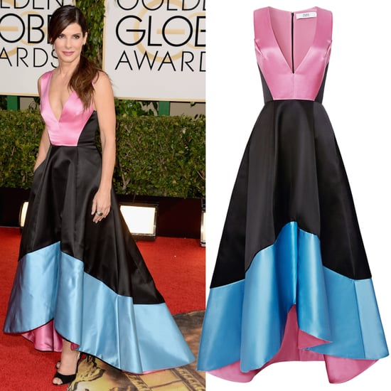 Sandra Bullock's Pink, Black, and Blue Prabal Gurung Dress