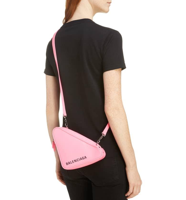 3cab3a384ec2 Balenciaga Triangle Calfskin Crossbody Bag