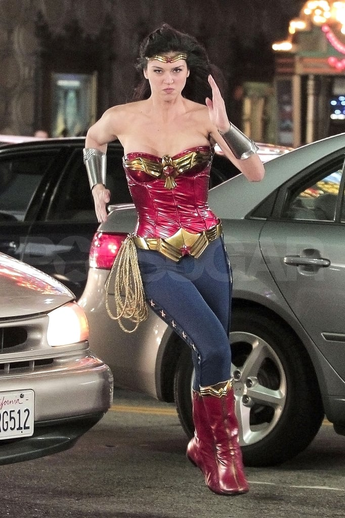 First Pics: Adrianne Palicki Jumps Into Action on Set as the New Wonder Woman!
