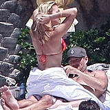 LeAnn and Eddie cozied up in the sun in Mexico during August 2010/