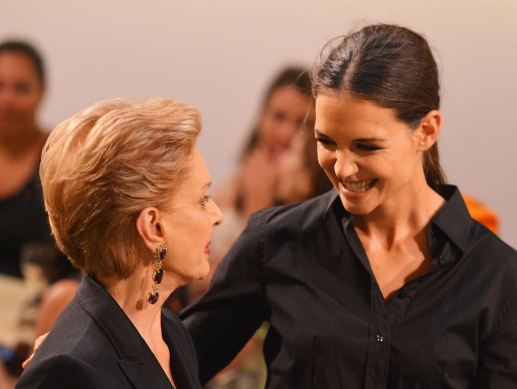 Katie Holmes chatted with Carolina Herrera at the Style Awards.