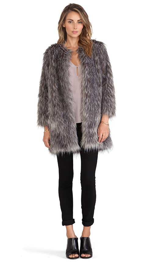 5e8721446eec BSABLE Stella Faux Fur Jacket in Gray ($583) | Faux Fur Jackets and ...