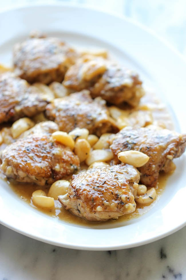 Chicken With 40 Cloves of Garlic | Garlicky Chicken ...