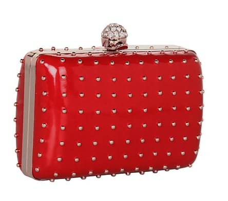 We love how this Franchi studded red clutch ($180) gives off a cool rock 'n' roll edge. It also comes in black, navy, and pink.