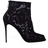 Dolce & Gabbana Floral Lace Booties