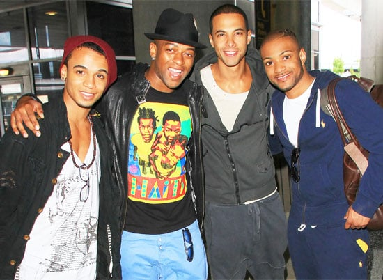 Pictures of JLS Smiling As They Arrive at JFK Airport