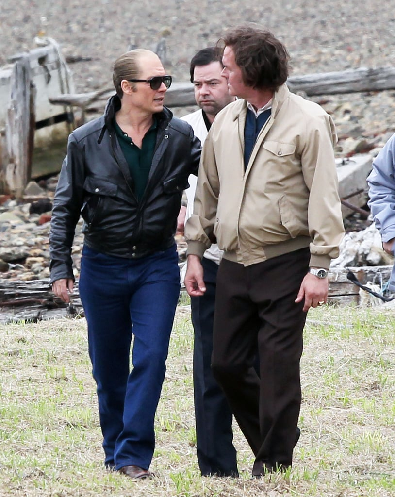Johnny Depp was back to looking unrecognizable while filming Black Mass in Boston on Tuesday.