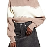 4Si3nna Contrast Funnel Neck Sweater