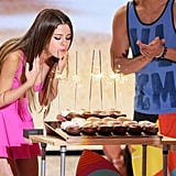 Selena Gomez celebrated her 20th birthday at the Teen Choice Awards. See all the pictures from the Teen Choice Awards.