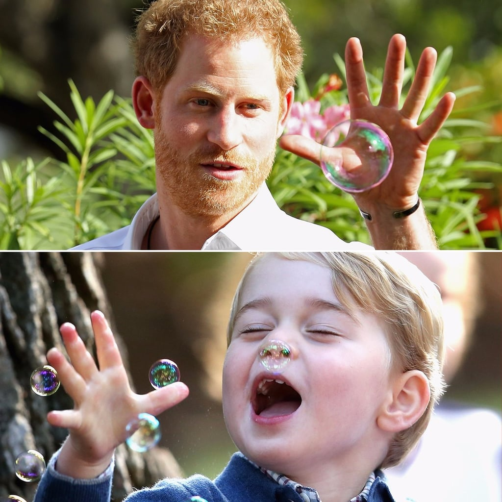 Prince Harry Blowing Bubbles in Antigua 2016