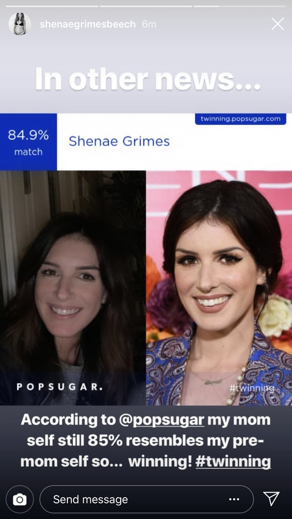 "Shenae Grimes matched with her ""pre-mom self."""