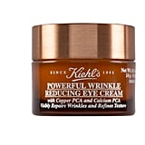 Model Jourdana Elizabeth told us that she's actually a huge fan of Kiehl's eye cream,  because you can never start taking preventative steps too early. And with all of the pulling on her face from brushes and makeup, she wants to be careful!