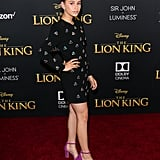 Pictured: Sky Katz at The Lion King premiere in Hollywood.
