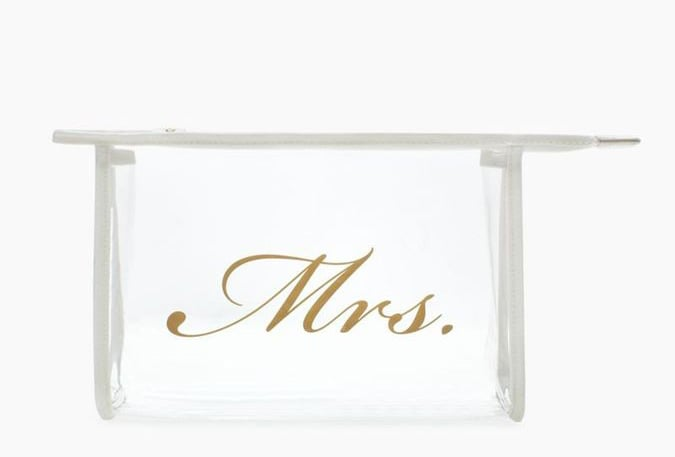 Kate Spade Mrs. Clear Plastic Airline Cosmetic Bag