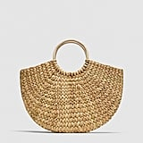 Straw Bag with Rounded Handles