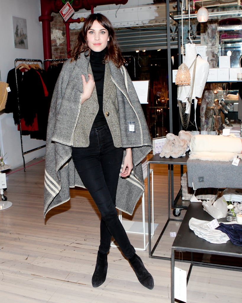 Alexa Chung at her Fancy This, Fancy That party.