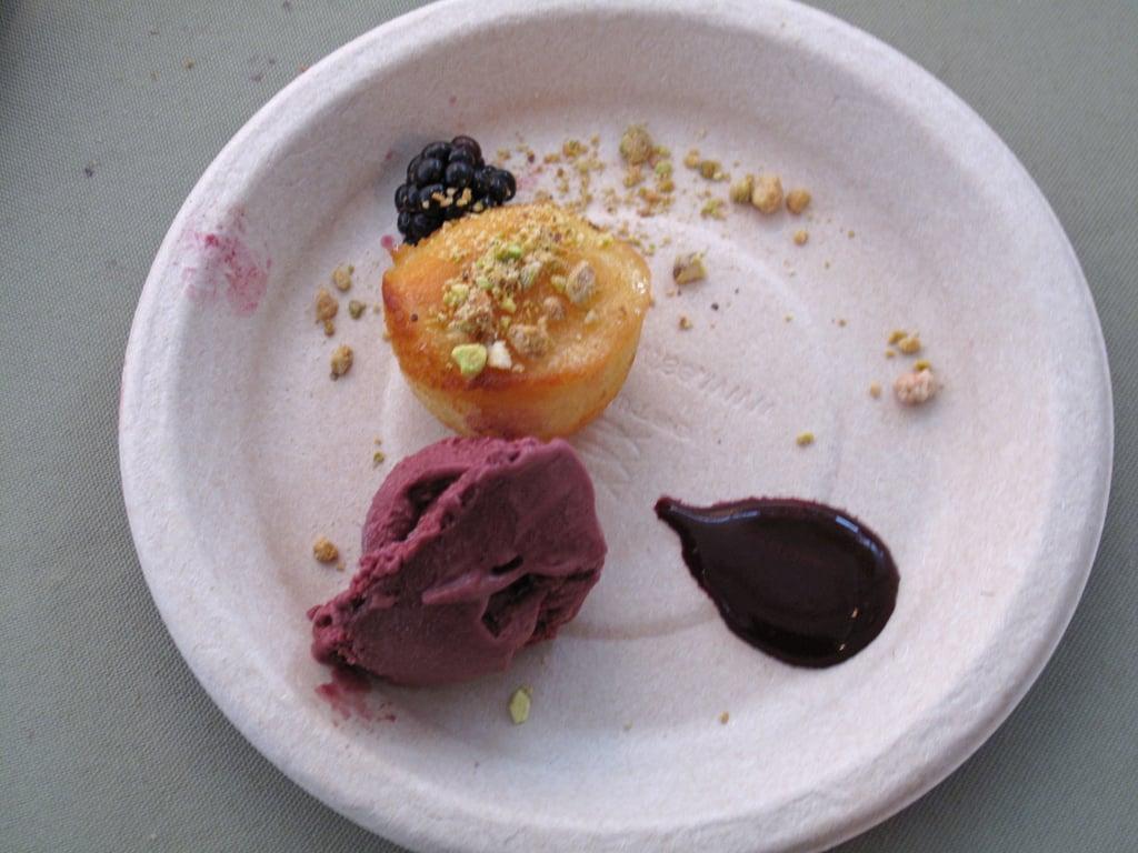 Yuzu Yogurt Cake With Blackberry Ice Cream