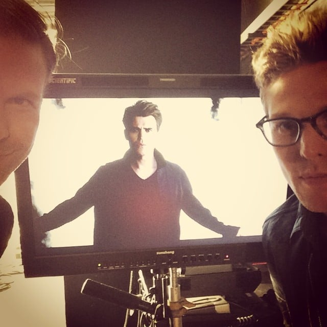 Roerig shared also shared look at Paul Wesley on the camera.