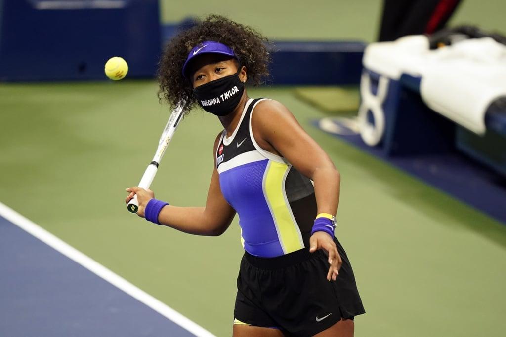 Naomi Osaka Wearing a Breonna Taylor Mask at the 2020 US Open