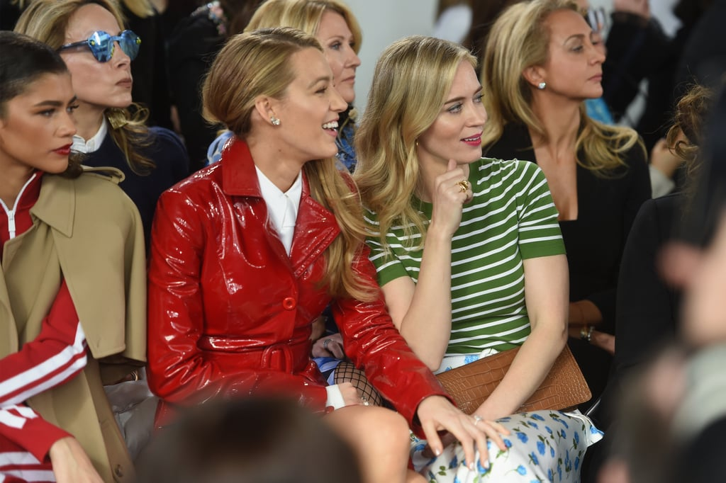 Blake Lively and Emily Blunt at NYFW February 2018