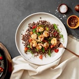 Garlic Shrimp With Sautéed Arugula and Tomatoes Recipe