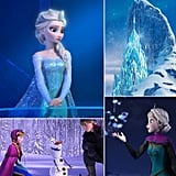 POPSUGAR Love is all about the newest Disney princesses, Anna and Elsa from Disney's knockout hit Frozen. The ladies are strong-willed heroines — and at least one of them is independently fierce in her singlehood — and the snowy setting of the animated film is stunning. So they thought it'd be fun to look for some Frozen-inspired wedding ideas for either a Winter wonderland big day or bridal shower. Get this chillingly chic wedding inspiration now!